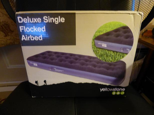 deluxe single flocked airbed