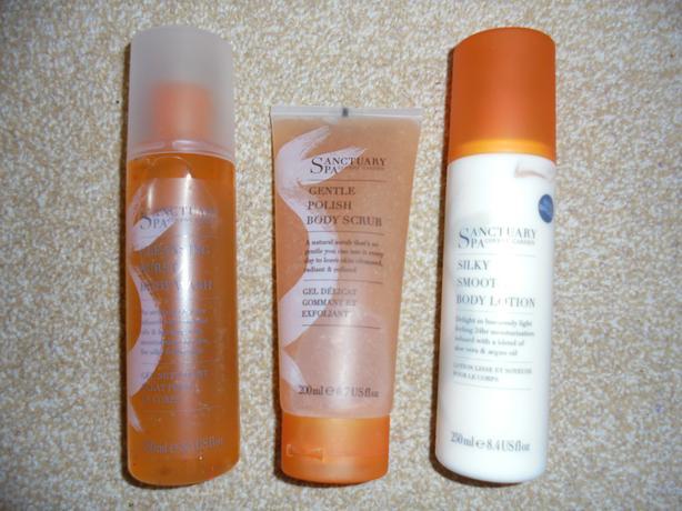Sanctuary Spa - Body Scrub, Body Lotion & Body Wash
