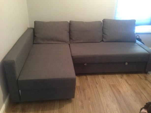 ikea grey sofa bed chaise long