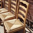 4 LADDER BACK CHAIRS