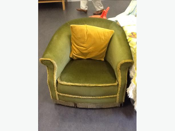Vintage Green Dralon Tub Chair