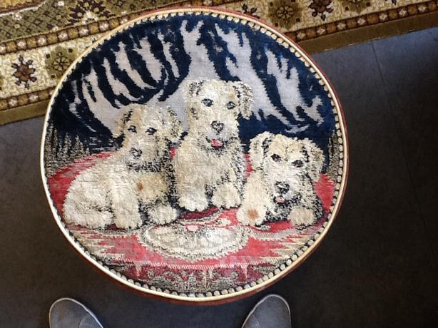 Vintage Dog Pouffee