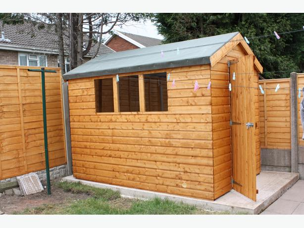 New 8ft x 10ft Shed For Sale
