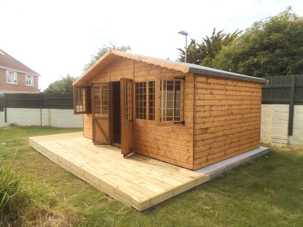 16ft x 10ft Summer House Plus 1ft Overhang
