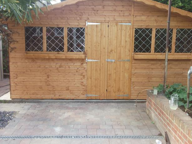 16ft x 8ft Summer House Plus 1ft Overhang