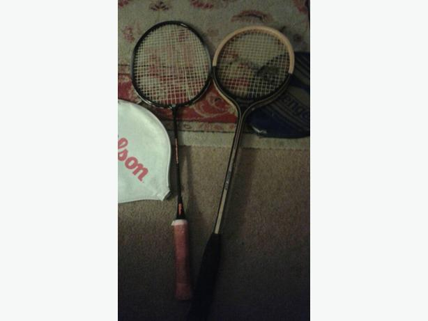 wilson defender and slazenger royal cup racket