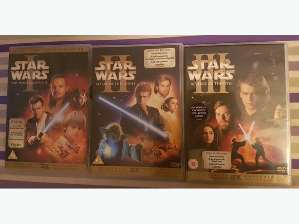 Star Wars Prequel Trilogy Dvd 6 X Disc Collection Movies Dudley Wolverhampton