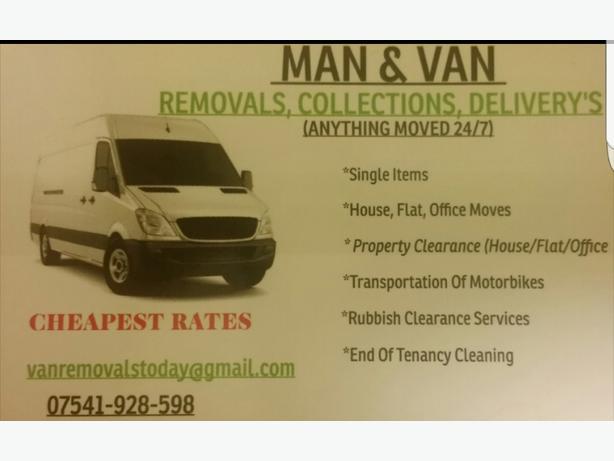 Man & Van Removals Clearance