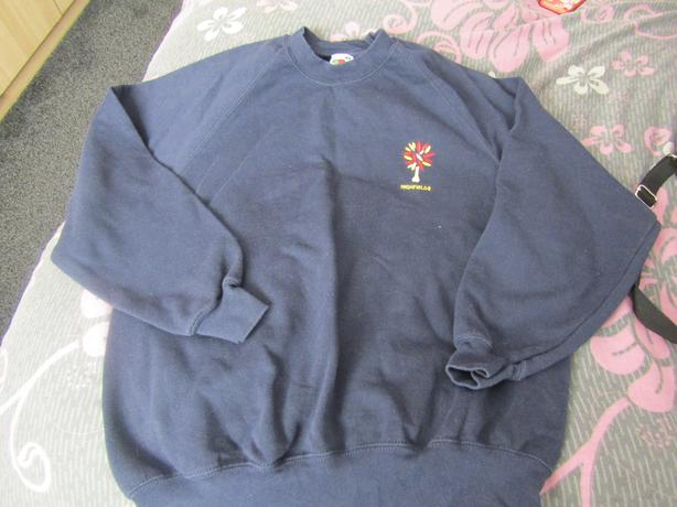 highfields girls PE sweatshirt