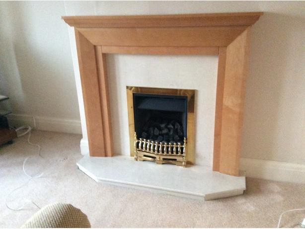 Fire surround and hearth/backpanel