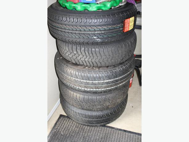 CARAVAN SPARE WHEELS AND TYRES  FOR SPARES