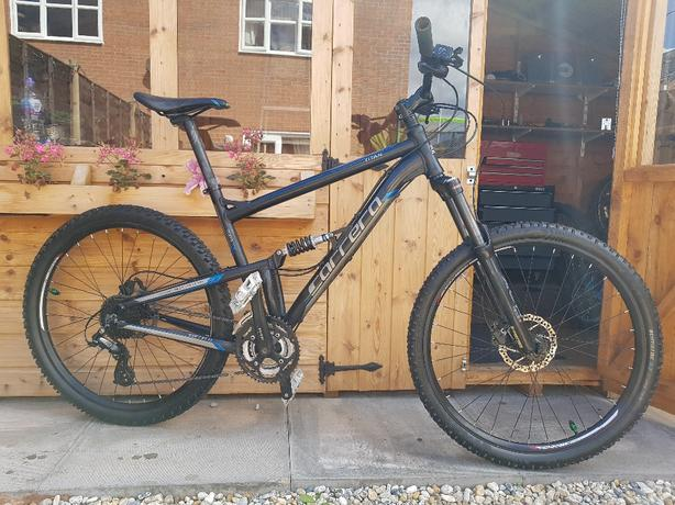 Carrera titan full suspension mountain bike