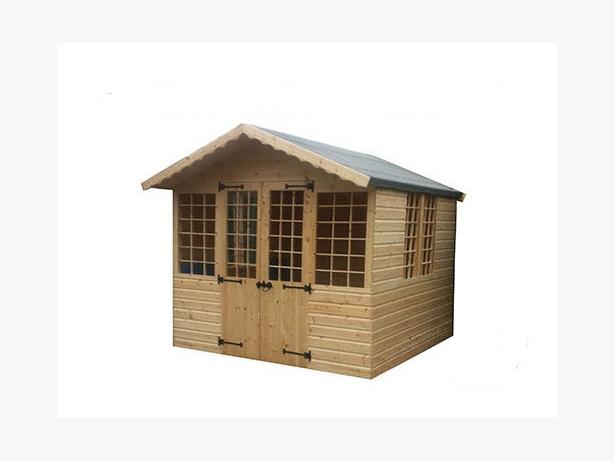 8ft x 8ft Summer House Plus 1ft Overhang