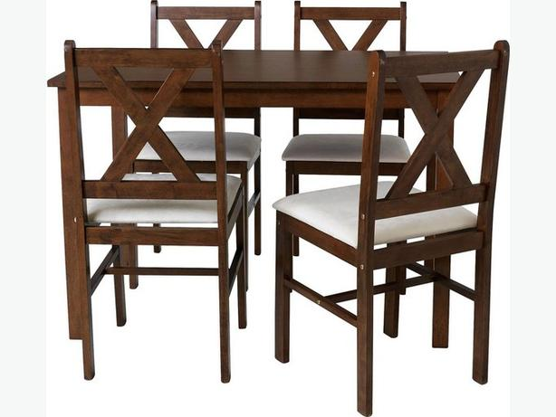 Solid Walnut dinning table and 4 chairs