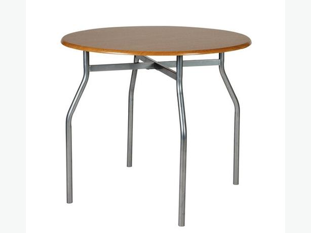 Oslo/Perth round dining table & 4 chairs -new in black or oak and choc