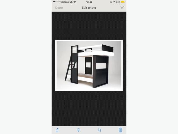 Aspace Black/Brown&White Bunk Bed,Wood DOUBLE RRP£600 With Matresses