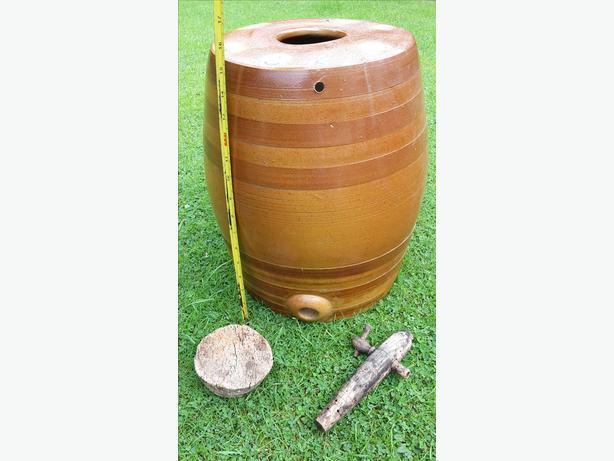 Vintage Stoneware Barrel