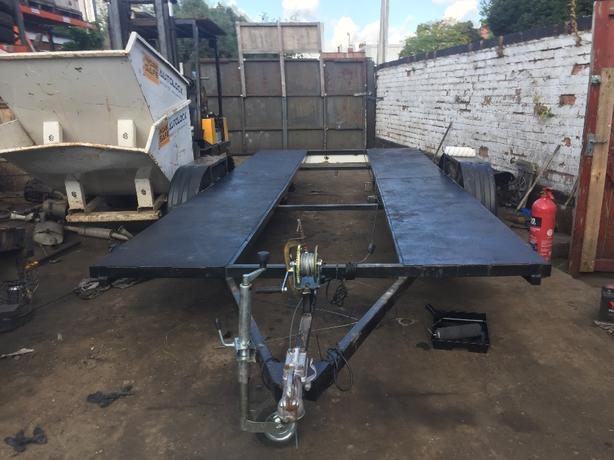 CAR TRANSPORTER 8ftx19ft VEHICLE TRAILER FLAT BED FULLY BRAKED RECOVERY