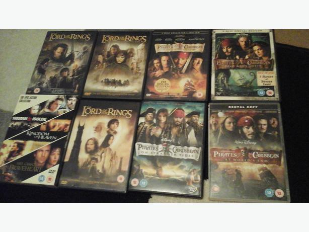 130  mixed collection of dvds