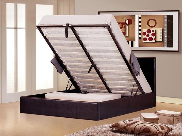 Ottoman Gaslift Storage 4ft6 Double Bed and Mattress Sets