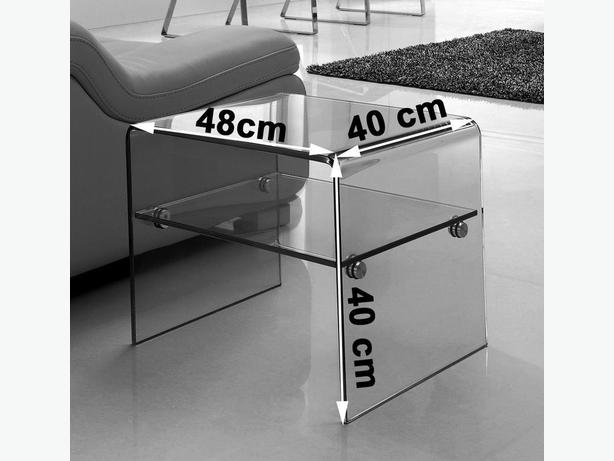 Luna Side Table [Clear Glass]