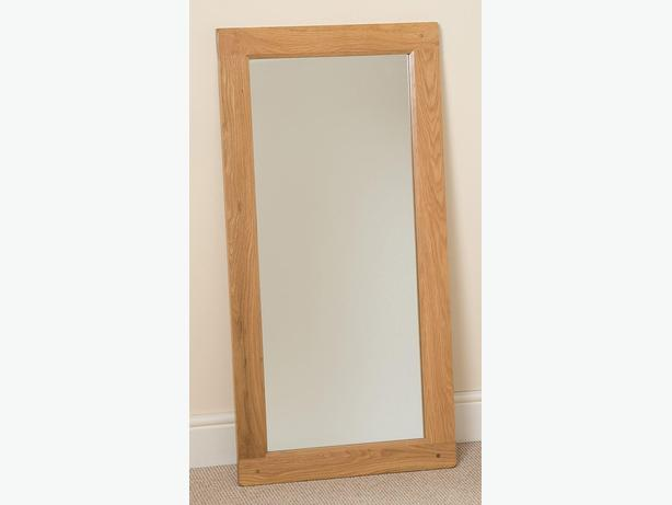 Cottage Light Solid Oak Wall Mirror