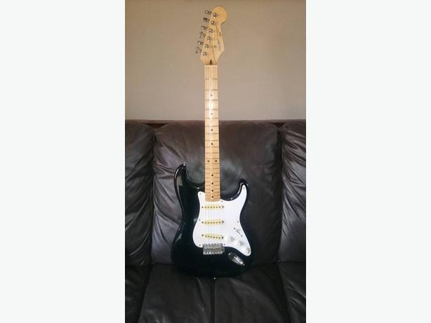 FOR-TRADE: 1990 made in japan squier (silver series) with upgrades