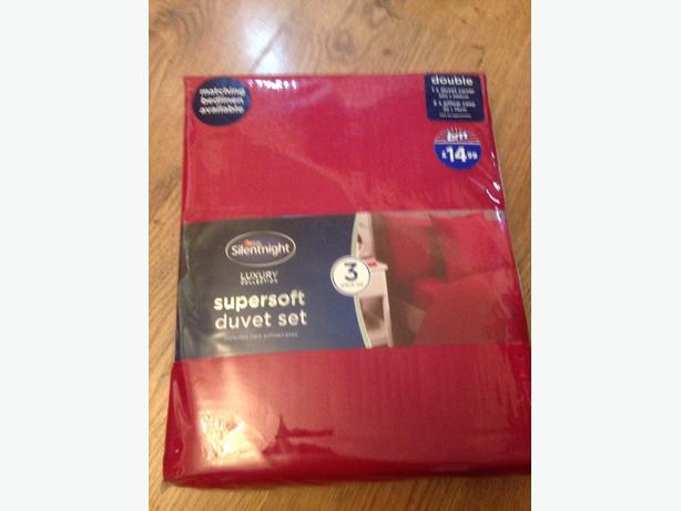 double duvet set red silent night
