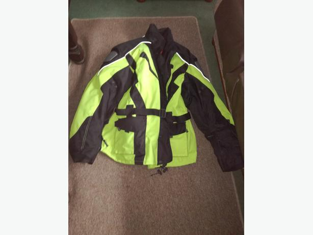 HIGH VIZ TEXTILE MOTORCYCLE JACKET 4XL
