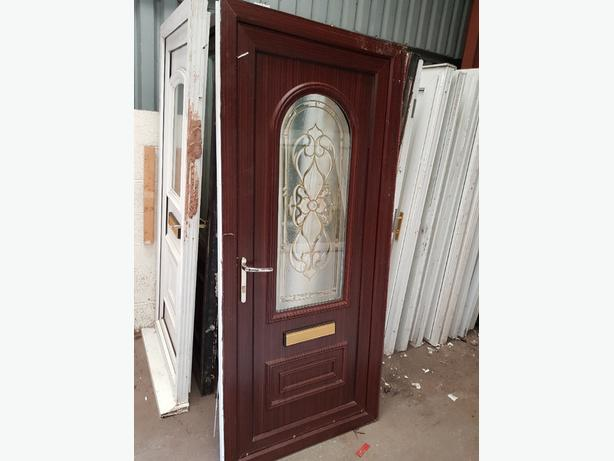 brown upvc door