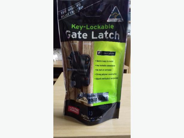 key lockable gate latch
