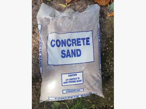 10 bags of concrete sand
