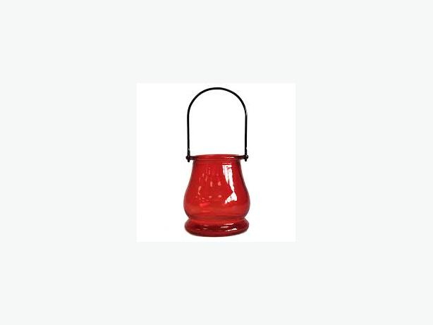 Recycled Candle Lantern – Ruby