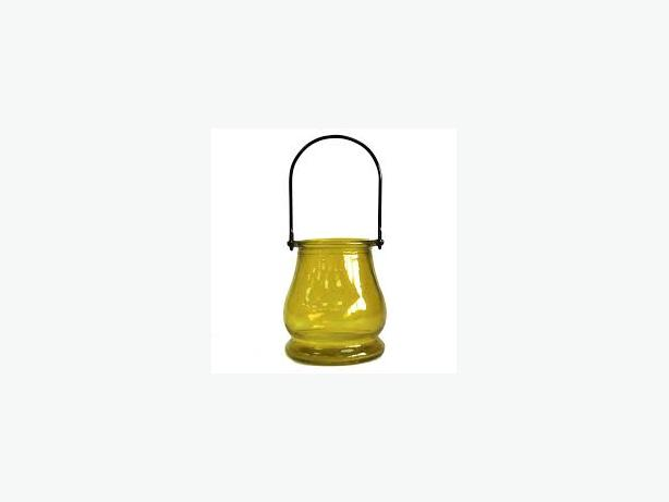 Recycled Candle Lantern – Yellow