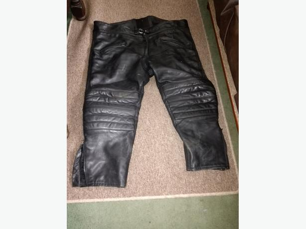 LEATHER MOTORCYCLE TROUSERS JTS 50