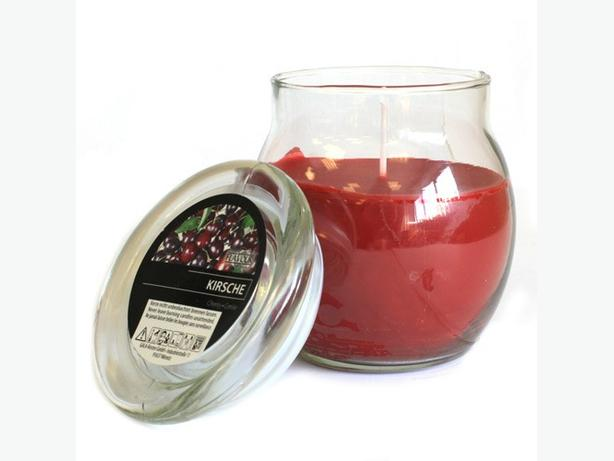 Scented Large Glass Candles - Cherry