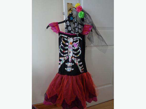 day of the dead halloween costume age 11-12