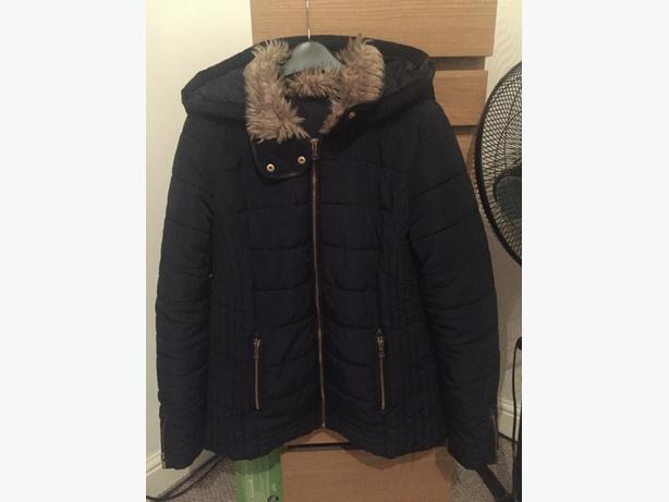 ladies blue winter coat size 14