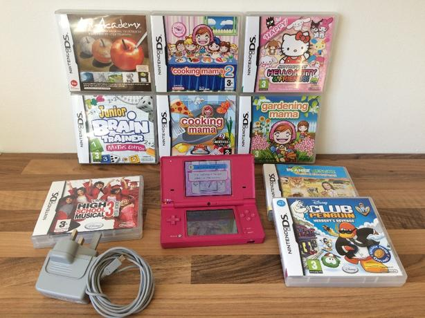 PINK NINTENDO DSI BIG GIRLIE BUNDLE