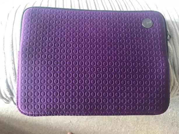 Purple laptop sleeve NEW