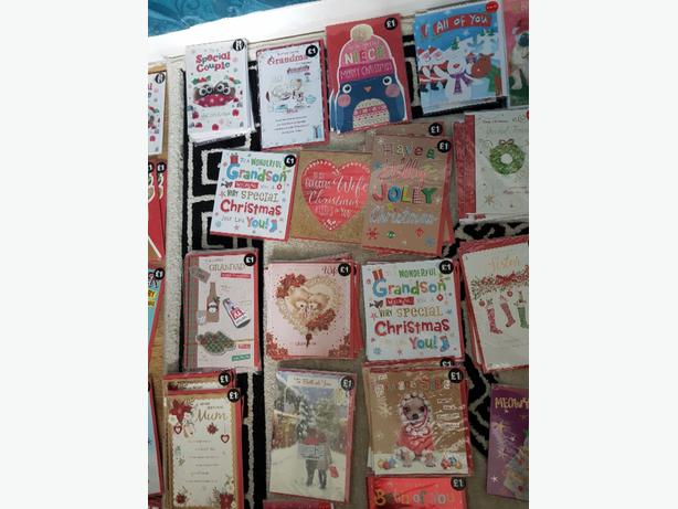 25p each Christmas cards and other items