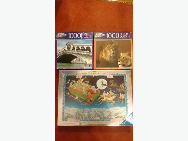 x3 kids 5+ jigsaw puzzles all for £4