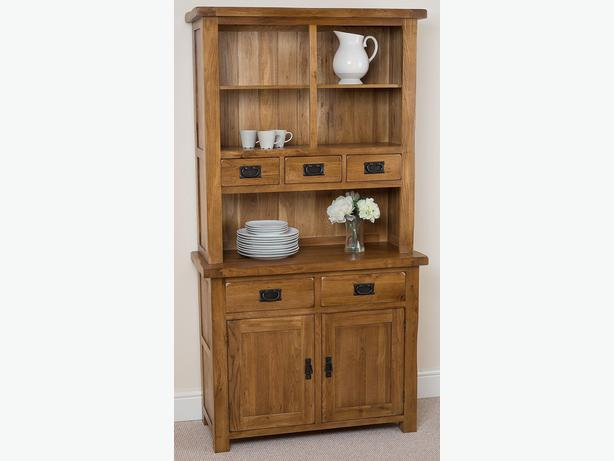 Cotswold Rustic Solid Oak Small Welsh Dresser