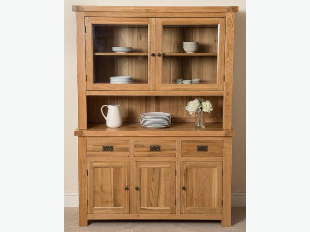 Cottage Light Solid Oak Large Dresser