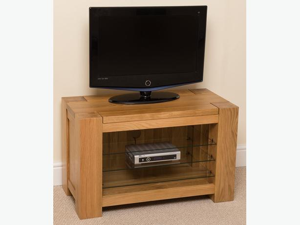 Kuba Solid Oak TV Unit Cabinet