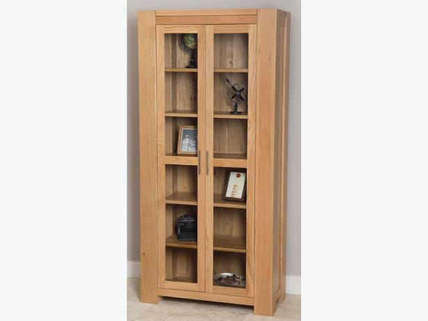 Kuba Solid Oak Glass Display Cabinet
