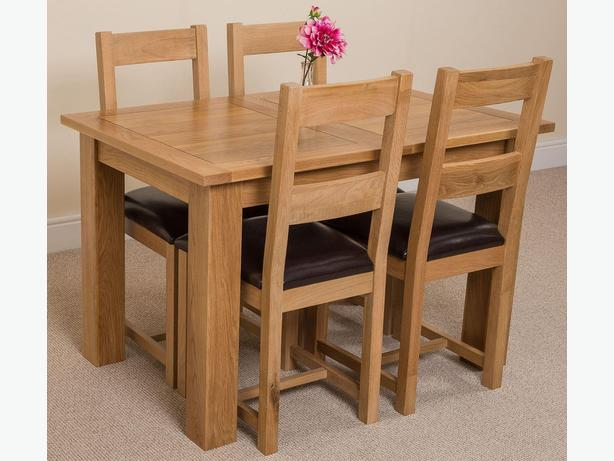 Solid oak Hampton with 4 Lincoln dining table set