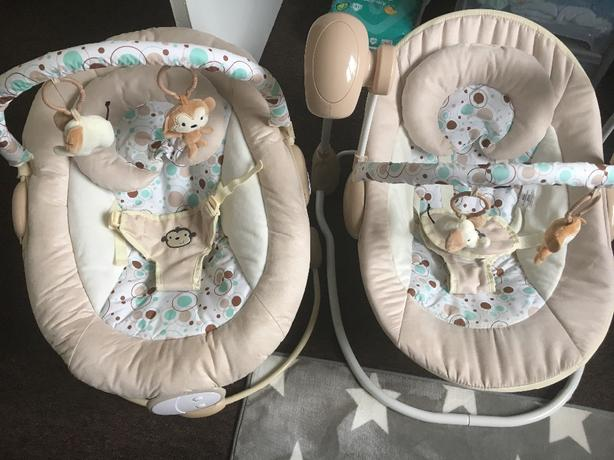 monkey baby swing chair and bouncer