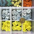 NEW CRAFT JOB LOT COMPARTMENT BOX OF BUTTONS