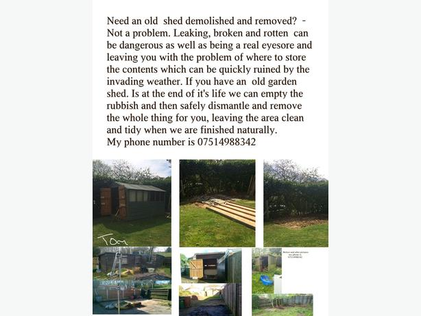 Need an old shed demolished and removed? - Not a problem.